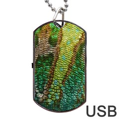 Colorful Chameleon Skin Texture Dog Tag USB Flash (Two Sides)