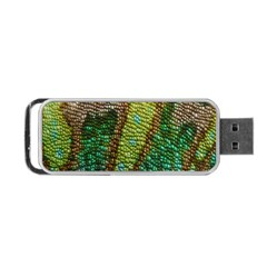 Colorful Chameleon Skin Texture Portable USB Flash (One Side)