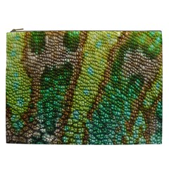 Colorful Chameleon Skin Texture Cosmetic Bag (XXL)