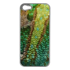 Colorful Chameleon Skin Texture Apple iPhone 5 Case (Silver)
