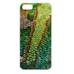 Colorful Chameleon Skin Texture Apple Iphone 5 Seamless Case (white)