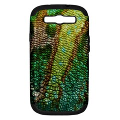 Colorful Chameleon Skin Texture Samsung Galaxy S III Hardshell Case (PC+Silicone)