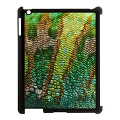 Colorful Chameleon Skin Texture Apple iPad 3/4 Case (Black)
