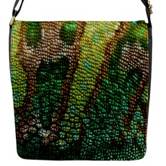 Colorful Chameleon Skin Texture Flap Messenger Bag (S)