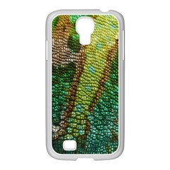 Colorful Chameleon Skin Texture Samsung GALAXY S4 I9500/ I9505 Case (White)