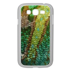 Colorful Chameleon Skin Texture Samsung Galaxy Grand DUOS I9082 Case (White)