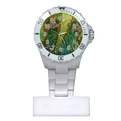 Colorful Chameleon Skin Texture Plastic Nurses Watch