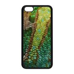 Colorful Chameleon Skin Texture Apple Iphone 5c Seamless Case (black)