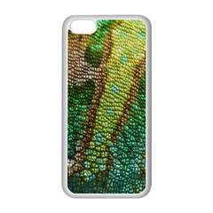 Colorful Chameleon Skin Texture Apple iPhone 5C Seamless Case (White)