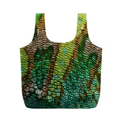 Colorful Chameleon Skin Texture Full Print Recycle Bags (M)