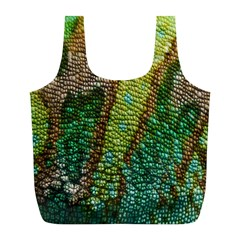 Colorful Chameleon Skin Texture Full Print Recycle Bags (l)