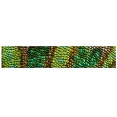Colorful Chameleon Skin Texture Flano Scarf (Large)