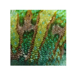 Colorful Chameleon Skin Texture Small Satin Scarf (Square)
