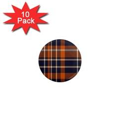 Tartan Background Fabric Design Pattern 1  Mini Magnet (10 Pack)