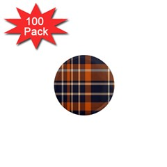 Tartan Background Fabric Design Pattern 1  Mini Magnets (100 Pack)