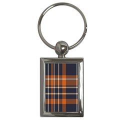 Tartan Background Fabric Design Pattern Key Chains (rectangle)