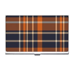 Tartan Background Fabric Design Pattern Business Card Holders