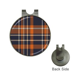 Tartan Background Fabric Design Pattern Hat Clips with Golf Markers