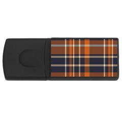Tartan Background Fabric Design Pattern USB Flash Drive Rectangular (4 GB)