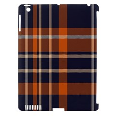 Tartan Background Fabric Design Pattern Apple Ipad 3/4 Hardshell Case (compatible With Smart Cover)