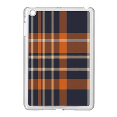 Tartan Background Fabric Design Pattern Apple iPad Mini Case (White)