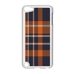 Tartan Background Fabric Design Pattern Apple iPod Touch 5 Case (White)