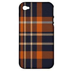 Tartan Background Fabric Design Pattern Apple iPhone 4/4S Hardshell Case (PC+Silicone)