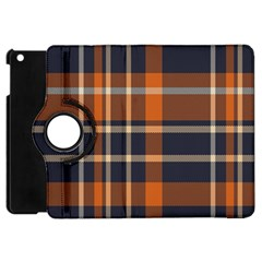 Tartan Background Fabric Design Pattern Apple Ipad Mini Flip 360 Case