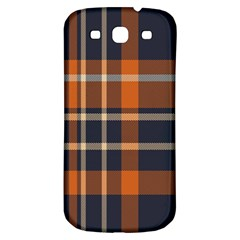 Tartan Background Fabric Design Pattern Samsung Galaxy S3 S III Classic Hardshell Back Case