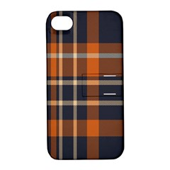 Tartan Background Fabric Design Pattern Apple iPhone 4/4S Hardshell Case with Stand