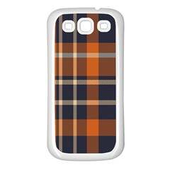 Tartan Background Fabric Design Pattern Samsung Galaxy S3 Back Case (White)