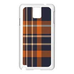 Tartan Background Fabric Design Pattern Samsung Galaxy Note 3 N9005 Case (White)