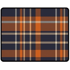 Tartan Background Fabric Design Pattern Double Sided Fleece Blanket (Medium)