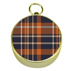 Tartan Background Fabric Design Pattern Gold Compasses