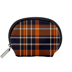 Tartan Background Fabric Design Pattern Accessory Pouches (small)