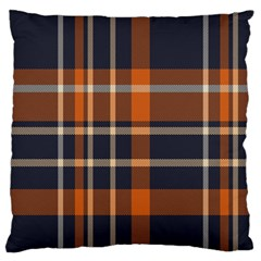 Tartan Background Fabric Design Pattern Large Flano Cushion Case (Two Sides)