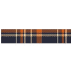 Tartan Background Fabric Design Pattern Flano Scarf (Small)
