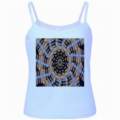 Manipulated Reality Of A Building Picture Baby Blue Spaghetti Tank