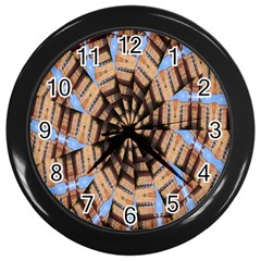 Manipulated Reality Of A Building Picture Wall Clocks (black)