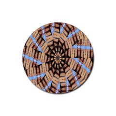 Manipulated Reality Of A Building Picture Rubber Coaster (Round)