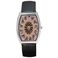 Manipulated Reality Of A Building Picture Barrel Style Metal Watch