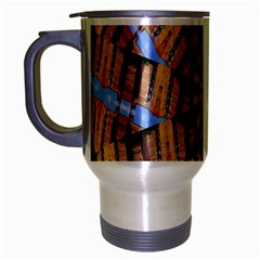 Manipulated Reality Of A Building Picture Travel Mug (silver Gray)