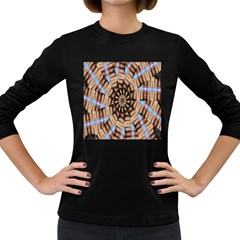 Manipulated Reality Of A Building Picture Women s Long Sleeve Dark T Shirts