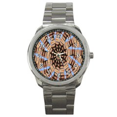 Manipulated Reality Of A Building Picture Sport Metal Watch