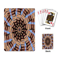 Manipulated Reality Of A Building Picture Playing Card
