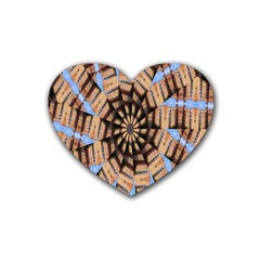 Manipulated Reality Of A Building Picture Rubber Coaster (heart)