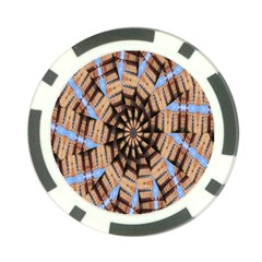 Manipulated Reality Of A Building Picture Poker Chip Card Guard (10 Pack)