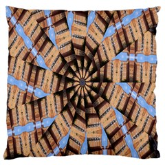 Manipulated Reality Of A Building Picture Large Cushion Case (one Side)