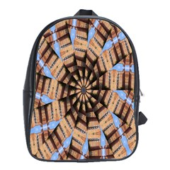 Manipulated Reality Of A Building Picture School Bags (XL)