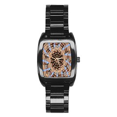 Manipulated Reality Of A Building Picture Stainless Steel Barrel Watch